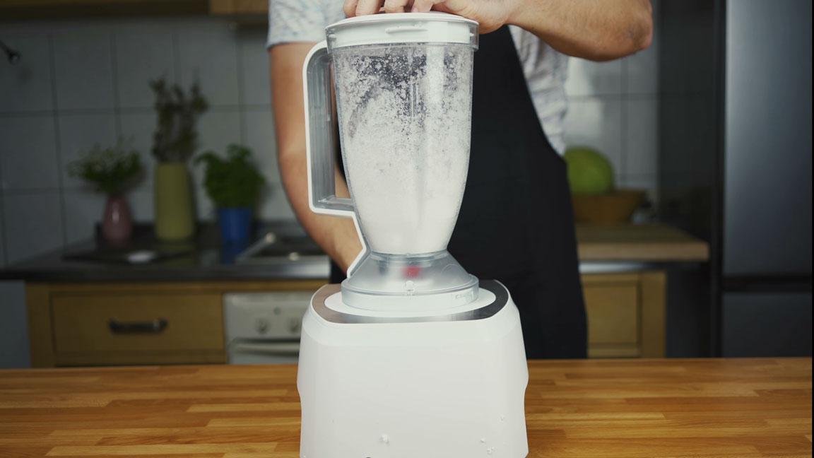 Leberkäse selber machen - Eis mixen