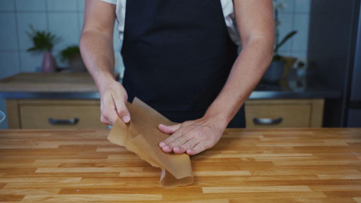Butter selber machen - Backpapier