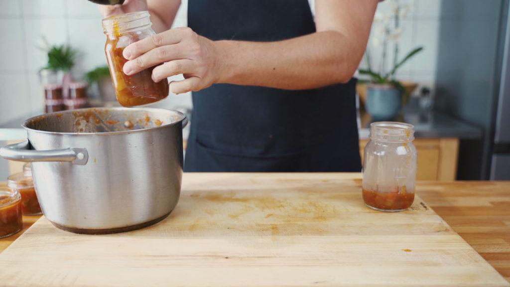 Tomaten Chutney - abfüllen