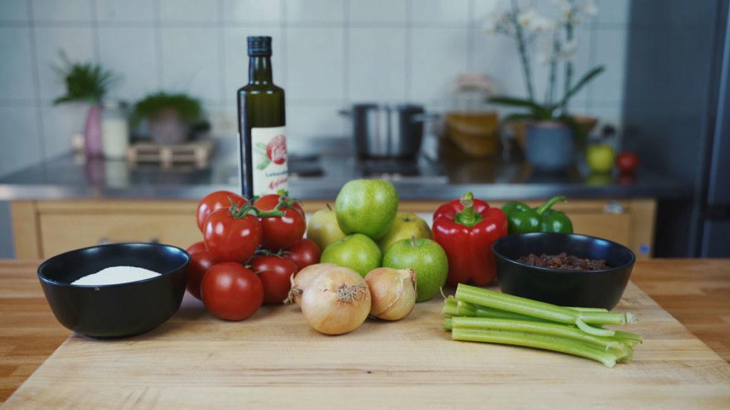 Tomaten Chutney -  alle Zutaten