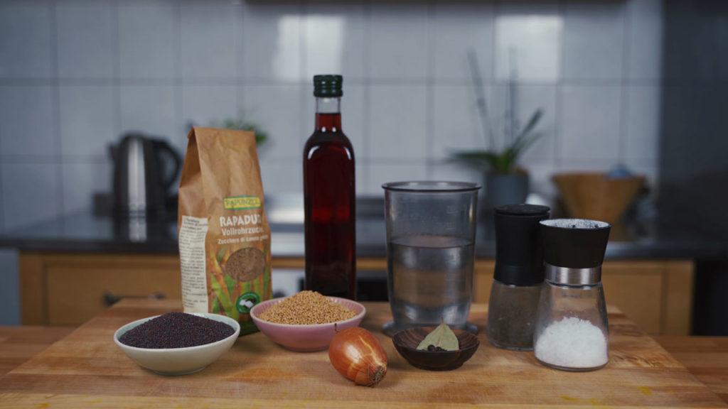 Süßer Senf selber machen - alle Zutaten