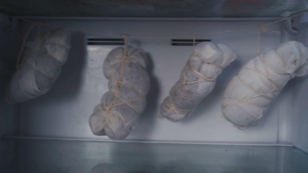 Entenschinken - Kühlschrank trocknen