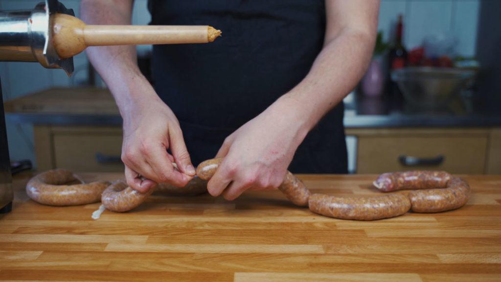 Chorizo - abdrehen