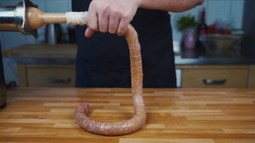 Chorizo - abfüllen