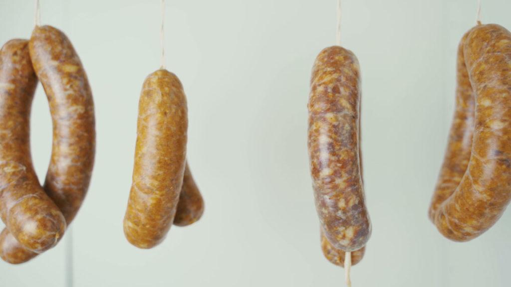 Chorizo - aufhängen