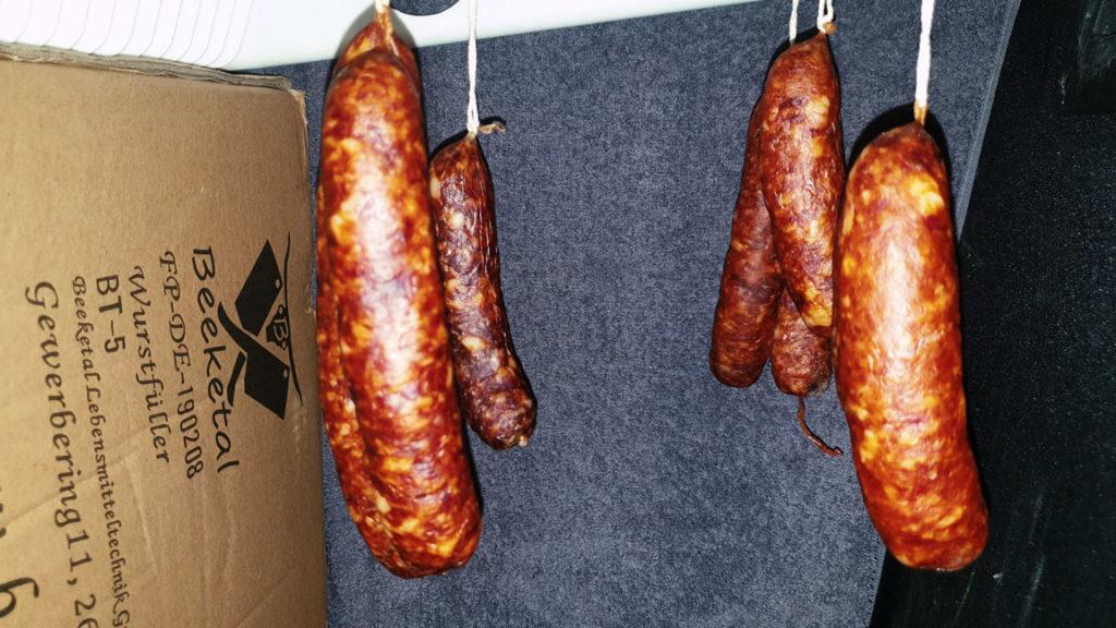 Chorizo - trocknen