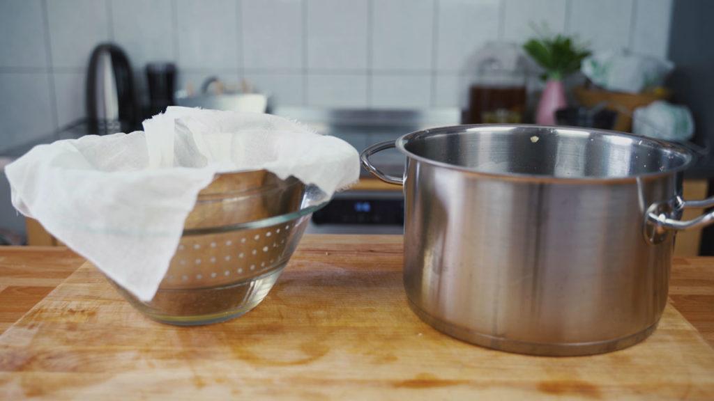 Griebenschmalz - Käsetuch 2
