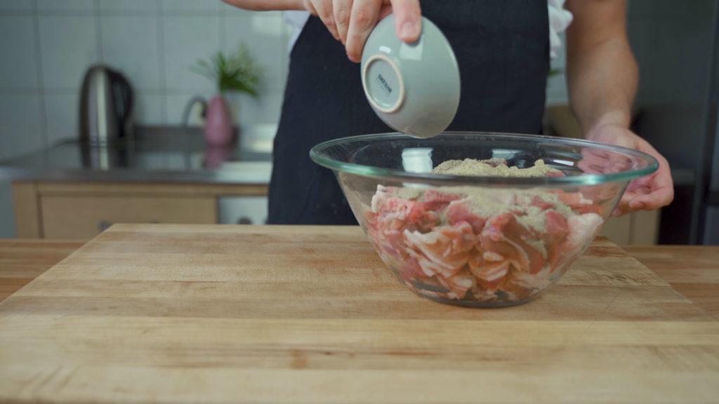 Nürnberger Würstchen - Gewürze und Fleisch
