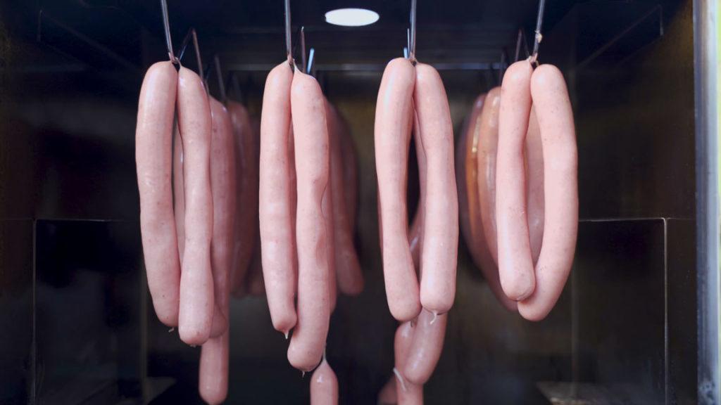 Wiener Würstchen - trocknen