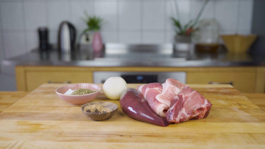 Pfälzer Leberwurst - alle Zutaten