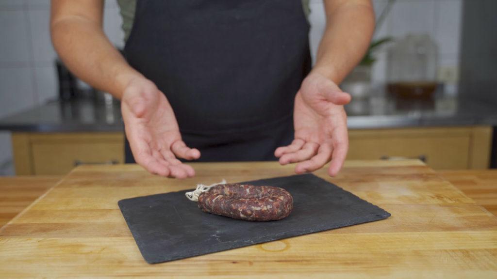Salami selber machen - fertig