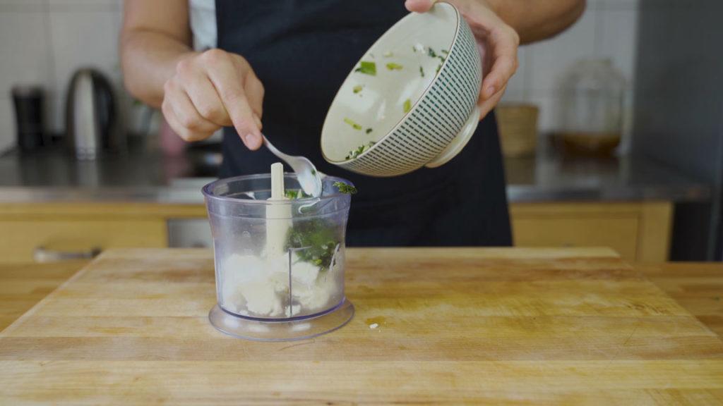 Spinat Feta Aufstrich - Mixer