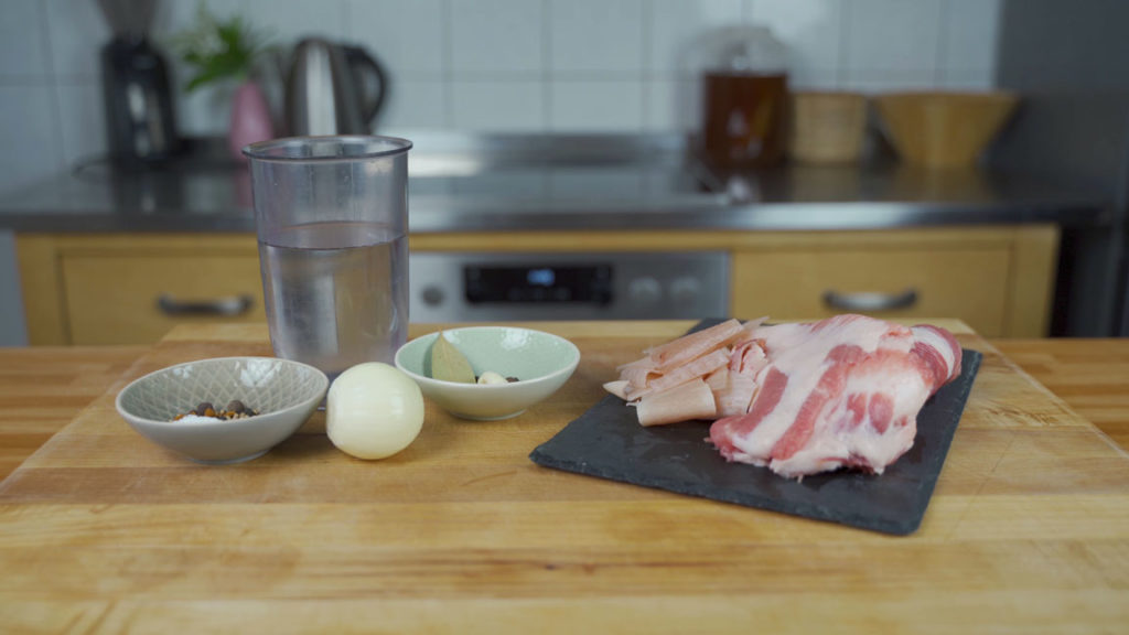 Schmalzfleisch - alle Zutaten