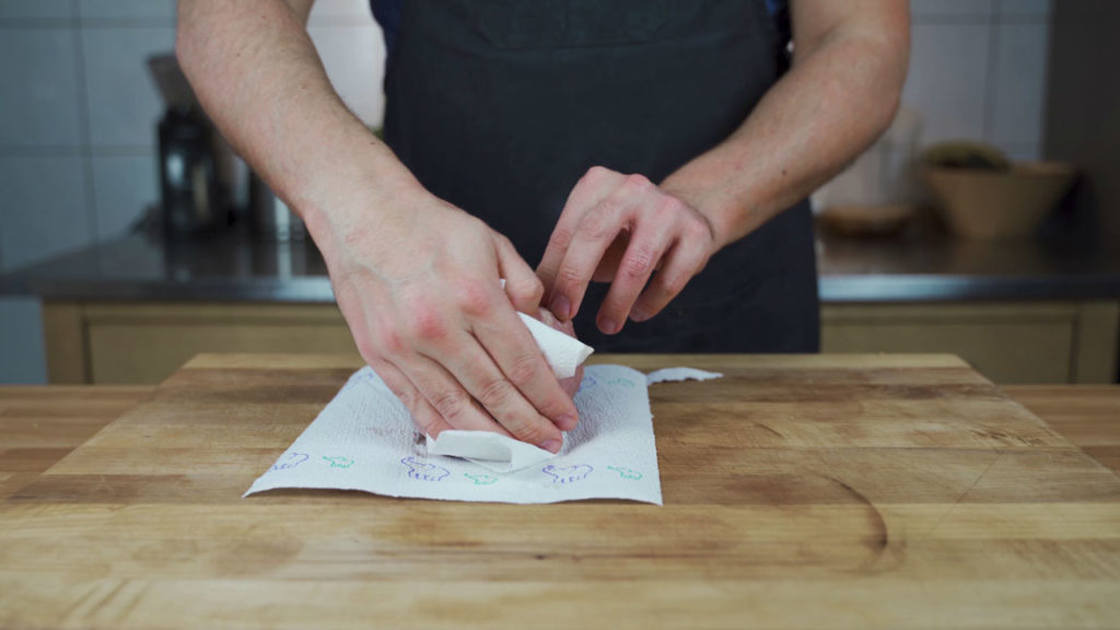 Rinderkochschinken-Küchentuch