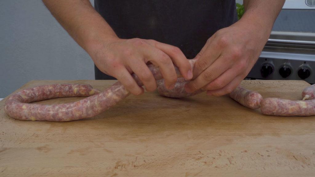 Käsebratwurst-abdrehen